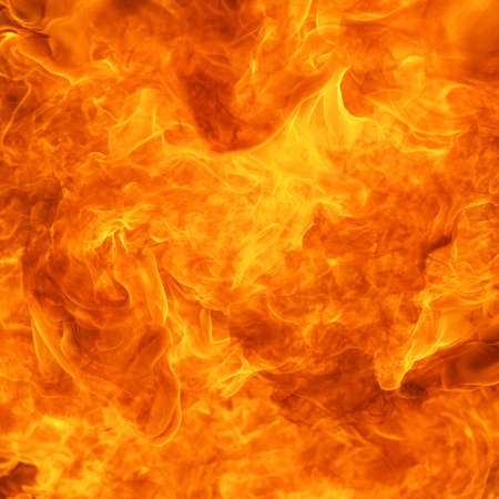 blaze fire flame conflagration texture background in square ratio