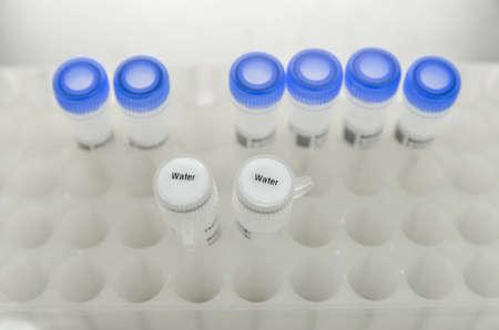 sterilized: sterilized water for PCR reaction Stock Photo