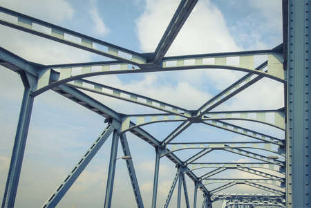 stabilizer: The bridge is made of steel stabilizer in Bangkok.