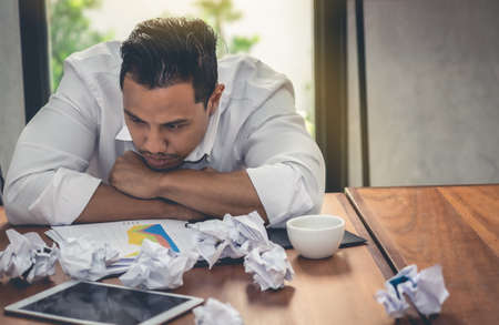 Stressed businessmen have problems with failure in what to expect.