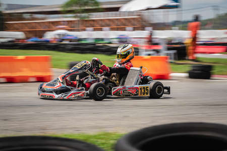 PATTATA,THAILAND-MAY 26: Go Kart  driving training and racing in provocative style. in IAME Series Asia 2019 bira circuit race pattaya on May 26,2019 IN THAILAND.