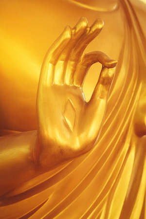 The hands are meditation of the Buddha statue as a Buddhist statue.