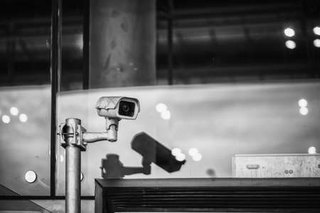 Guard cameras that keep records of events and provide for safety. Banco de Imagens