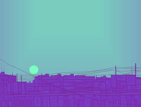 thoughtfulness: Abstract illustration. sunset image. vector illustration.