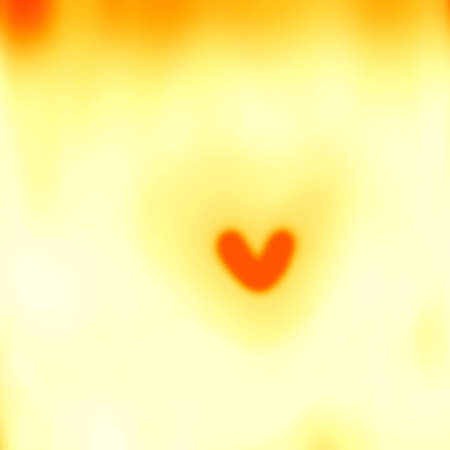 airiness: Abstract yellow blurred image of the heart  Stock Photo