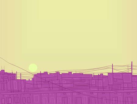 thoughtfulness: Illustration - dawn   Vector illustration