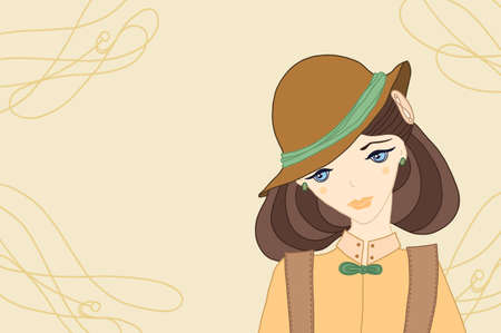 beautiful girl in a hat Stock Photo - 17996656