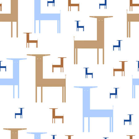 seamless pattern. abstract animals. vector image.