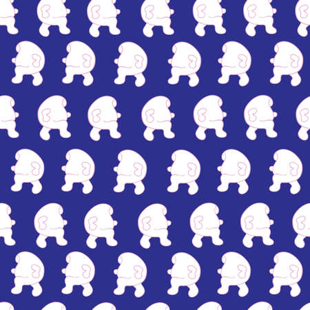 seamless pattern  abstract people  vector image