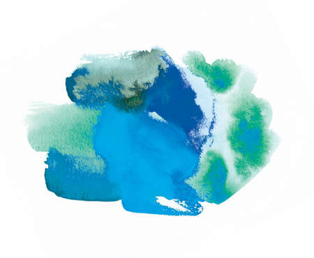 abstract watercolor image of the earth