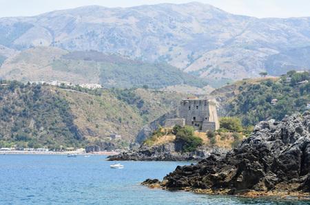 Beautiful panoramic views of the South Coast of Italy, the Tyrrhenian Sea