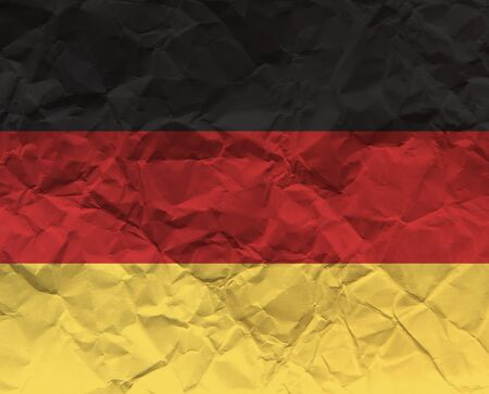High resolution crumpled paper textured flag of Germany