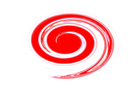 Red oval graphic color brush strokes effect on white background