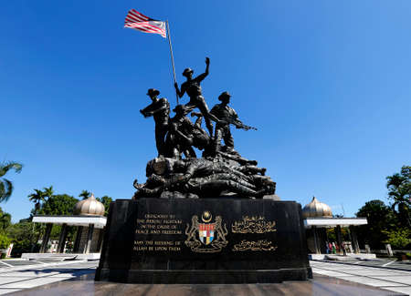 A general views Malaysia National Monument also known as Tugu Negara in Kuala Lumpur, February 25, 2018. Editorial