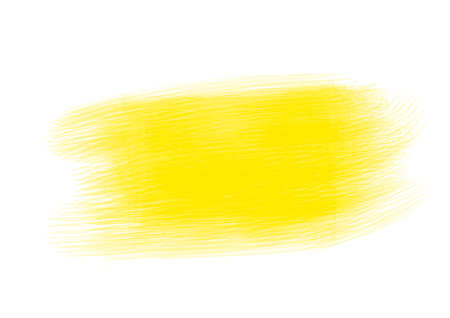 Yellow water color patches graphic brush strokes effect background designs element