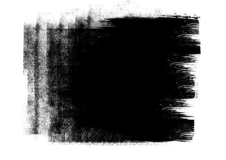 Black color ink graphic brush strokes effect background designs element Stock Photo