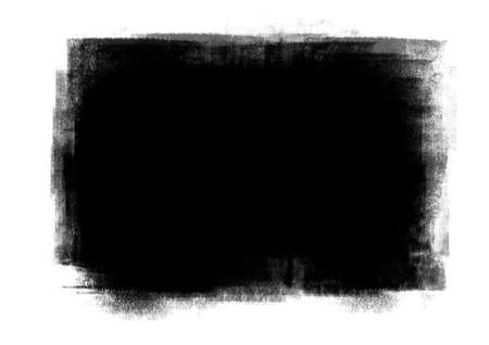 Black color graphic patches brush strokes effect background designs element Stock Photo