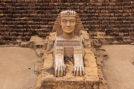 sphinx: Front of Sphinx stutae model Stock Photo