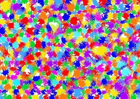 turbulence: Paint Colorful Vector illustration background Illustration
