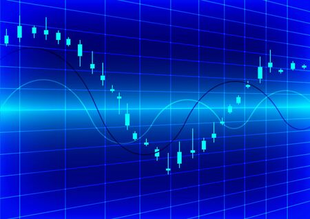 Vector illustration of stock graphic graph