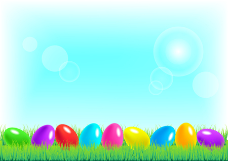 april clipart: Vector illustration of Happy Easter background