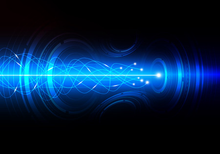 Abstract Technology background with high speed data transference of communication system, vector illustration