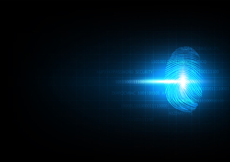 Abstract technology background for security and privacy system with fingerprint, Vector illustration 向量圖像
