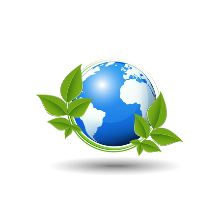 earth day: World environment day concept, Green ecology, Vector illustration