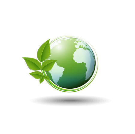 Green World Symbol For Ecology Friendly And Sustainable Development