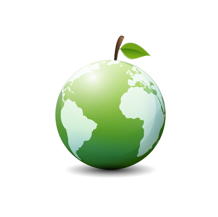 Green world ecology friendly and sustainable, Vector illustration