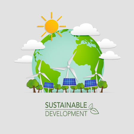 earth day: World sustainable development and Ecology friendly concept, vector illustration Illustration