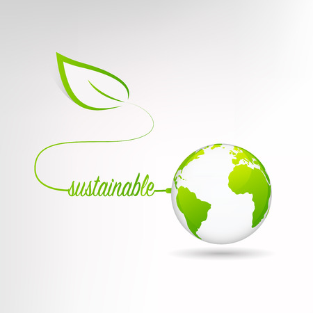 Sustainable world concept, Vector illustration.