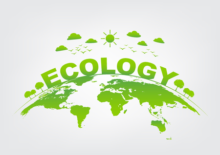 Ecology friendly concept and World environment, vector illustration