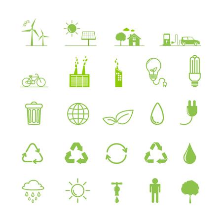 Ecology icons set, Vector illustration