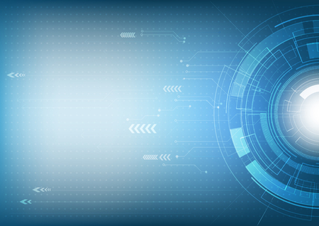 Abstract futuristic innovation technology and digital hi tech background, vector illustration
