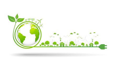 World environment and sustainable development concept, vector illustration Ilustrace