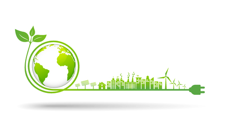 World environment and sustainable development concept, vector illustration  イラスト・ベクター素材