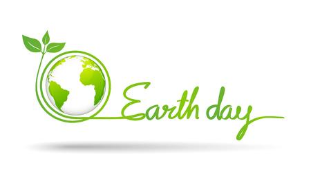 Happy Earth day celebration concept, vector illustration Ilustrace