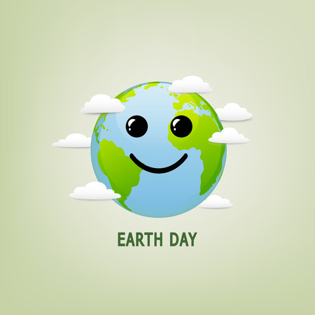 Happy Earth Day illustration for environment safety and ecology friendly concept, vector illustration