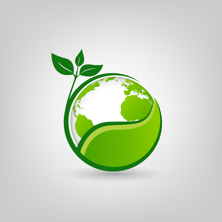 Earth Day icon for environment and ecology friendly concept, vector illustration  イラスト・ベクター素材