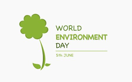 World Environment day and eco friendly concept with tree shape and paper cut design with inside shadow, Vector illustration Ilustração