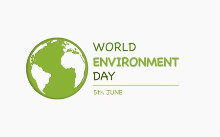 World Environment day, earth day and eco friendly concept, Vector illustration