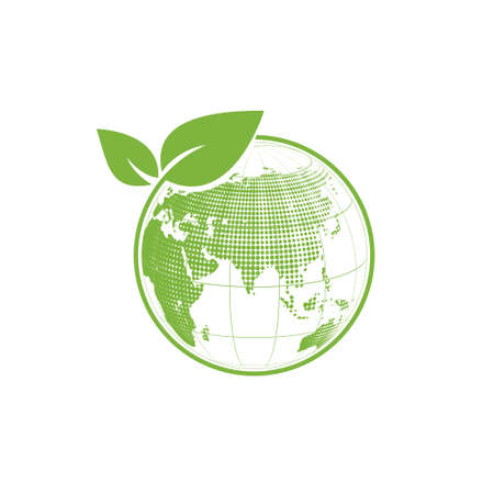 Eco friendly and World environment logo concept, Vector illustration