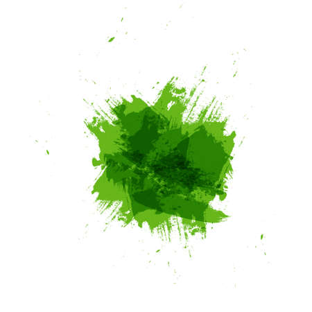 Watercolor green brush background with copy space for text and Logo, Vector illustration
