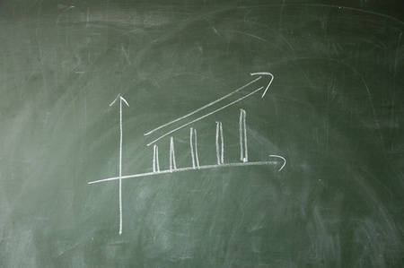 x axis: chart Stock Photo