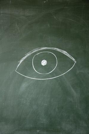 fixate: eye Stock Photo