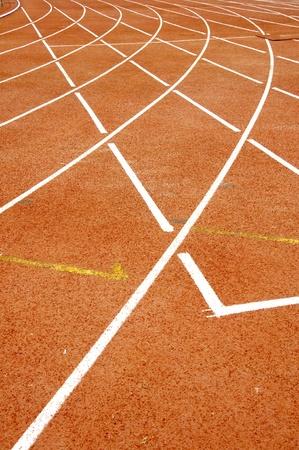to strive: Athletics track Stock Photo