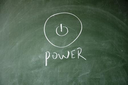 Abstract power symbol photo