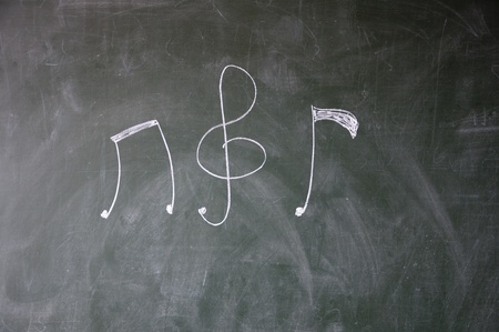 octaves: Music notation Stock Photo
