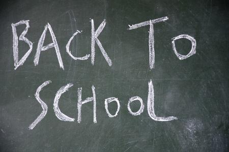 lacunae: back to school title written with chalk on blackboard